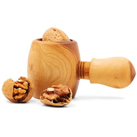 Olive Wood Christmas Nutcracker - Made in Israel