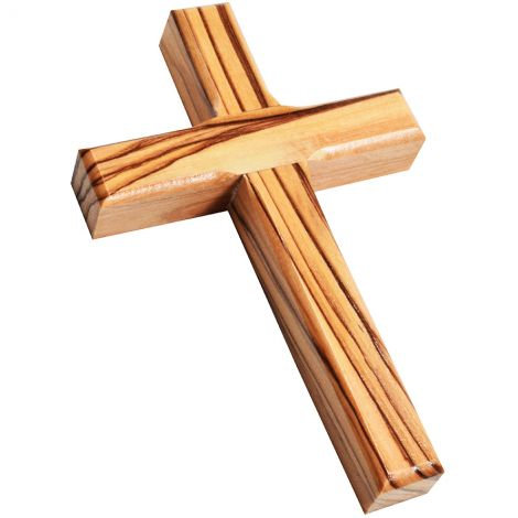 """Olive Wood Cross Wall Hanging from Jerusalem - 5"""" inch"""