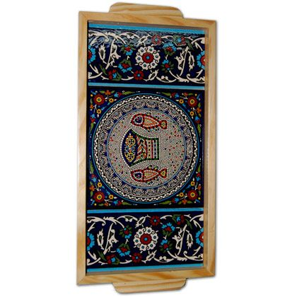 Armenian Ceramic 'Tabgha' Tray - Made in the Holy Land