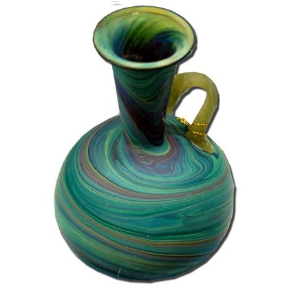 Phoenician Style Vase with Handle - Holy Land - Green