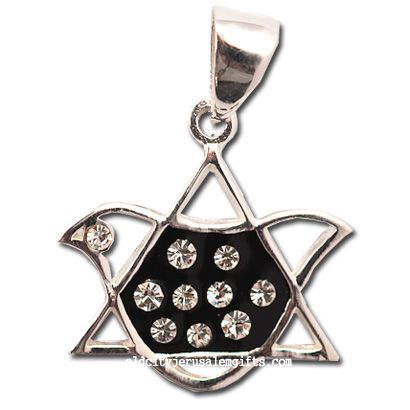 Star of David - Dove Pendant - Sterling Silver