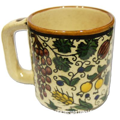 Armenian Ceramic 'Seven Species' Coffee Mug