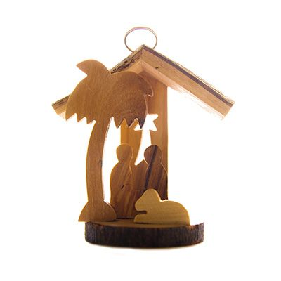 Olive Wood Nativity Ornament - Made in Bethlehem - 2 inch
