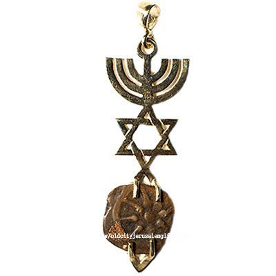 Widow's Mite in 14k Gold 'Grafted In' Messianic Frame Pendant