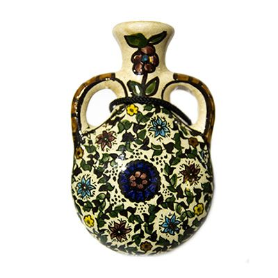 Armenian Ceramic Flask - Made in the Holy Land
