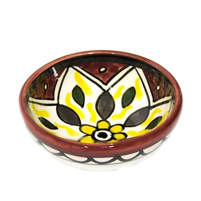 Red Dip Bowl - Ceramics Made in the Holy Land