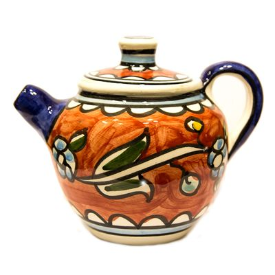 Armenian Ceramic Tea Pot - Holy Land Flowers