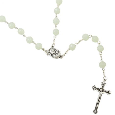 Catholic Rosary - Rosaries with Soil from Jerusalem - Light Green
