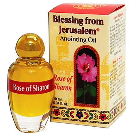 Rose of Sharon Anointing Oil - Prayer Oil from Jerusalem - 12ml