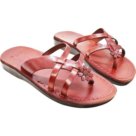 'Rose of Sharon' Women's Jesus Sandals - Made in Israel - Leather