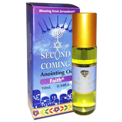 Second Coming 'Faith' Anointing Oil - 10 ml Roll-On - Made in Israel