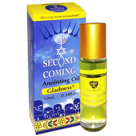 Second Coming 'Gladness' Anointing Oil - 10 ml Roll-On - Made in Israel