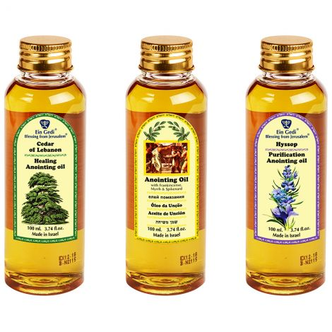 The 'Set-Apart' Calling to Ministry Anointing Oil set from Jerusalem - 3 x 100 ml