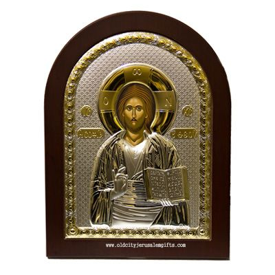 Silver Icon Pantocrator Christ - Made in Jerusalem