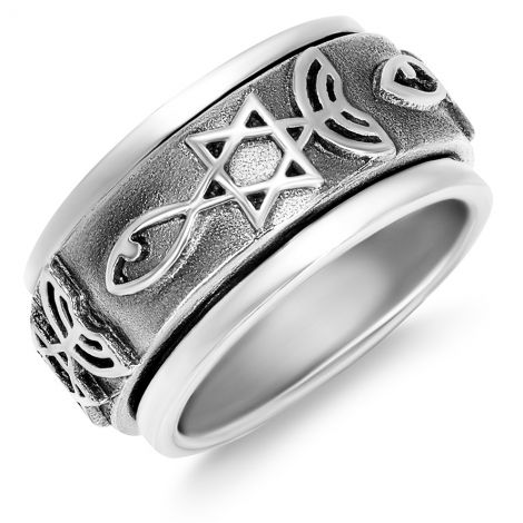 'Grafted In' Messianic Ring - Romans 11 - Sterling Silver