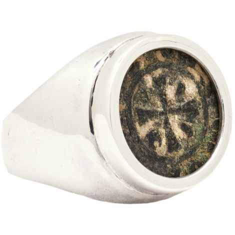 Ancient Crusader Coin 11th Century set in Silver Ring