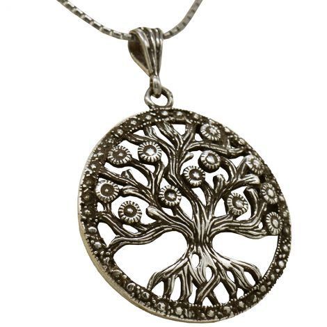 Tree of Life' Ornate Sterling Silver Pendant - Made in Israel