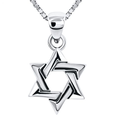 Star of David' Silver Pendant - Made in Israel - Interwoven