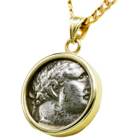 1/2 Shekel of Tyre' New Testament Temple Tax Coin in 14k Gold Pendant