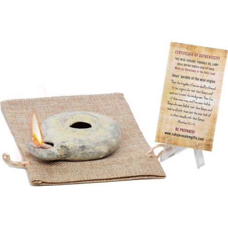 5 Wise Virgins Clay Oil Lamps - Second Temple Period Replicas