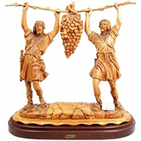 Bible stories carved from olive wood