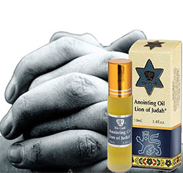 Praying over the oil