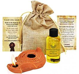 How to use a clay oil lamp?