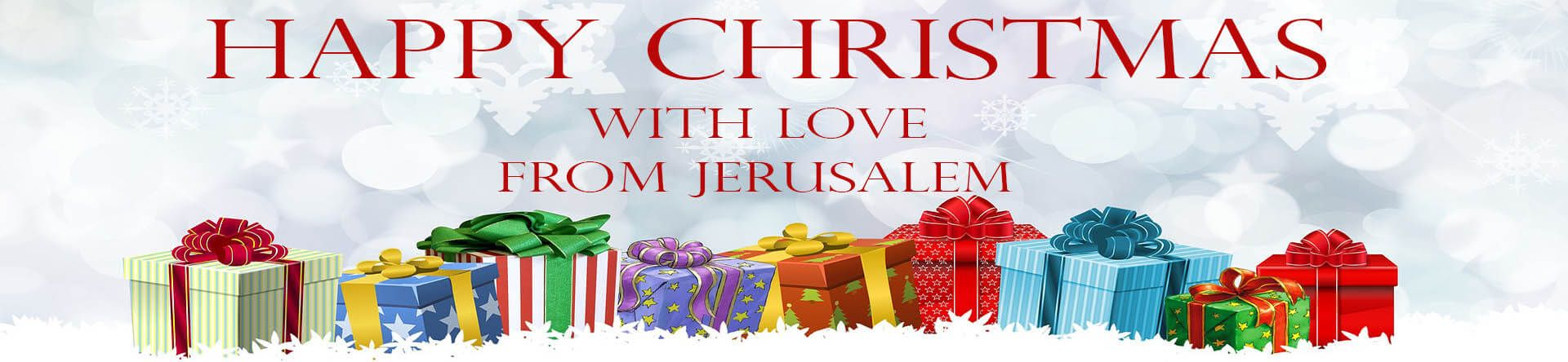 Christmas gifts from Jerusalem